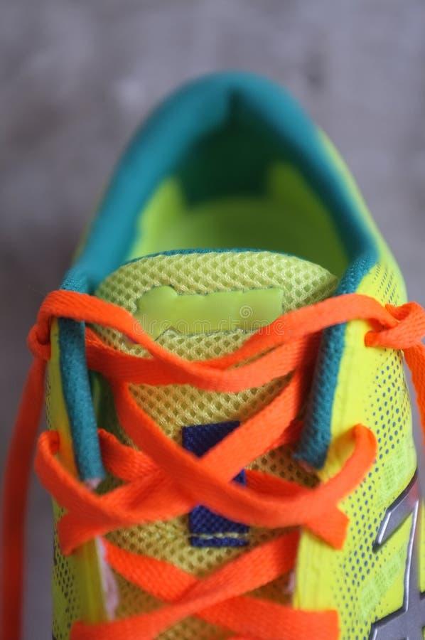 细节运动鞋或教练员 免版税图库摄影
