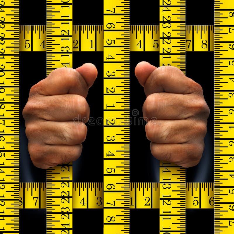 节食的囚犯概念 皇族释放例证