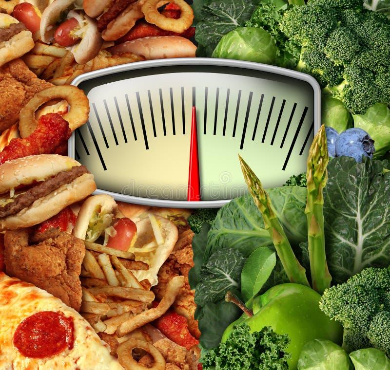 节食的选择 库存例证