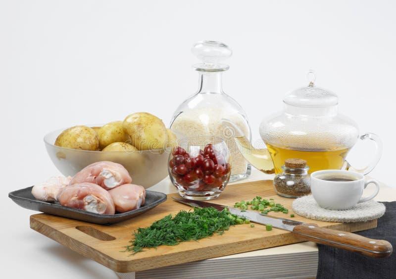 节食的食物 免版税库存图片