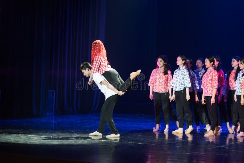 芒廷村婚礼1丁香舞蹈戏曲 库存照片