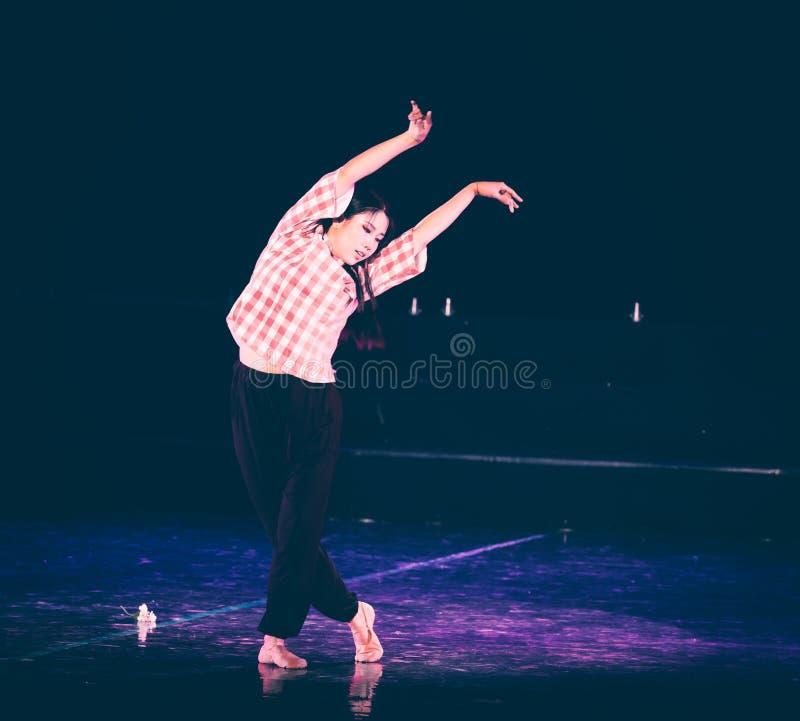 芒廷村6丁香舞蹈戏曲的妇女老师 库存图片