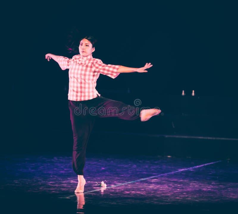 芒廷村7丁香舞蹈戏曲的妇女老师 库存照片