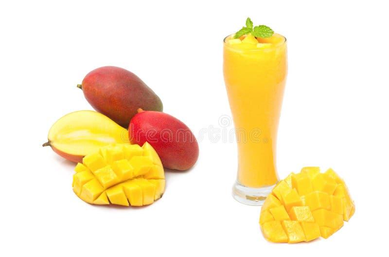 芒果圆滑的人饮料 免版税图库摄影