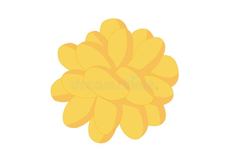 芒果成熟黄色许多成熟芒果 皇族释放例证