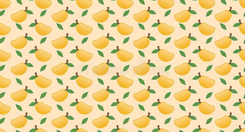 芒果无缝的样式传染媒介 库存图片