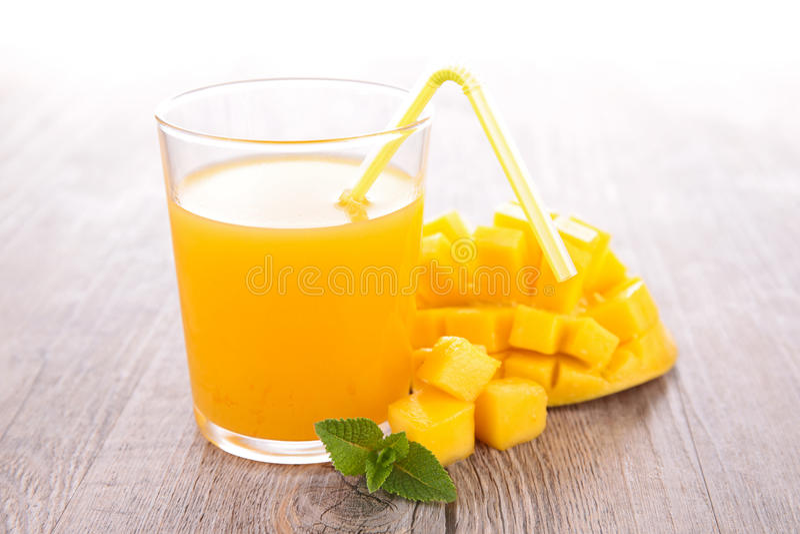芒果汁 图库摄影