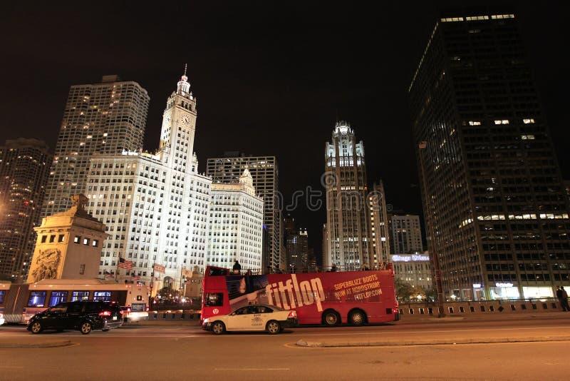 芝加哥。密执安大道 免版税库存图片