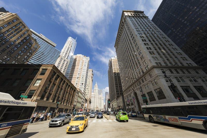 芝加哥交通视图 免版税库存照片