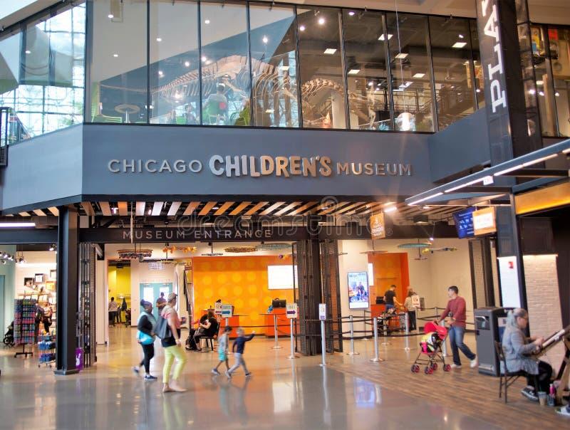 芝加哥儿童的博物馆内部,芝加哥,伊利诺伊 免版税图库摄影