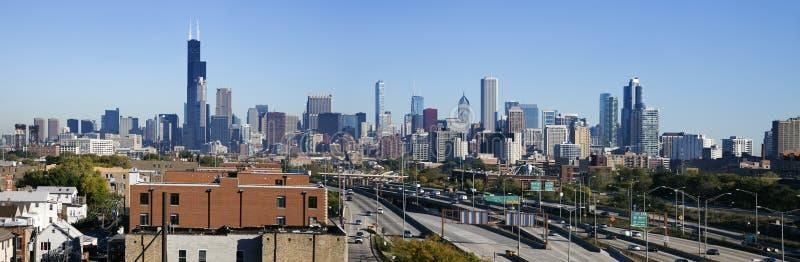 芝加哥全景南视图 免版税库存图片