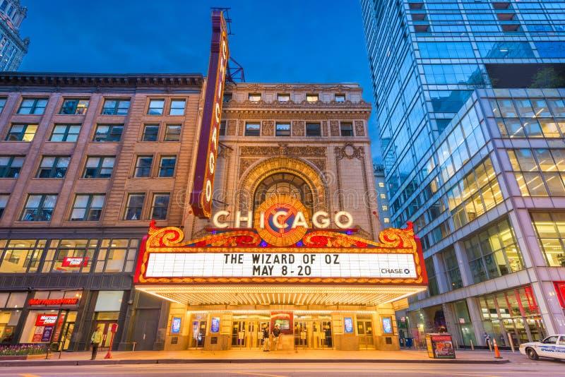 芝加哥剧院大门罩 库存照片