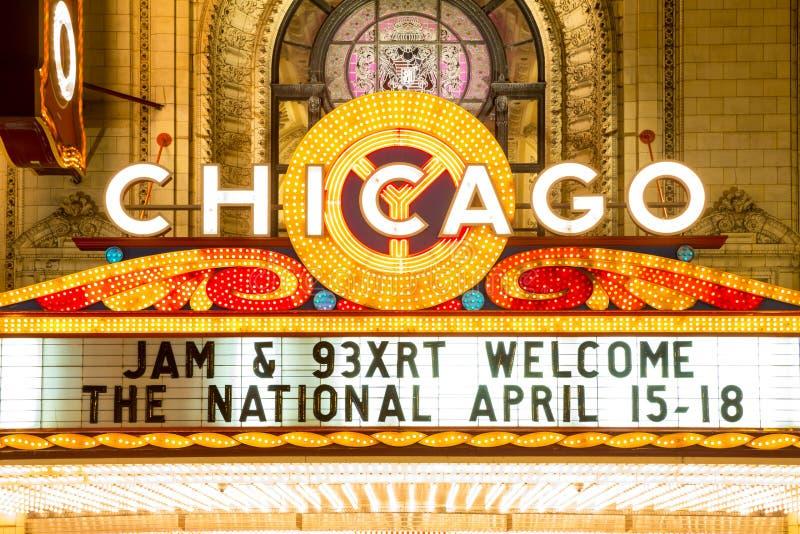 芝加哥剧院 免版税库存图片