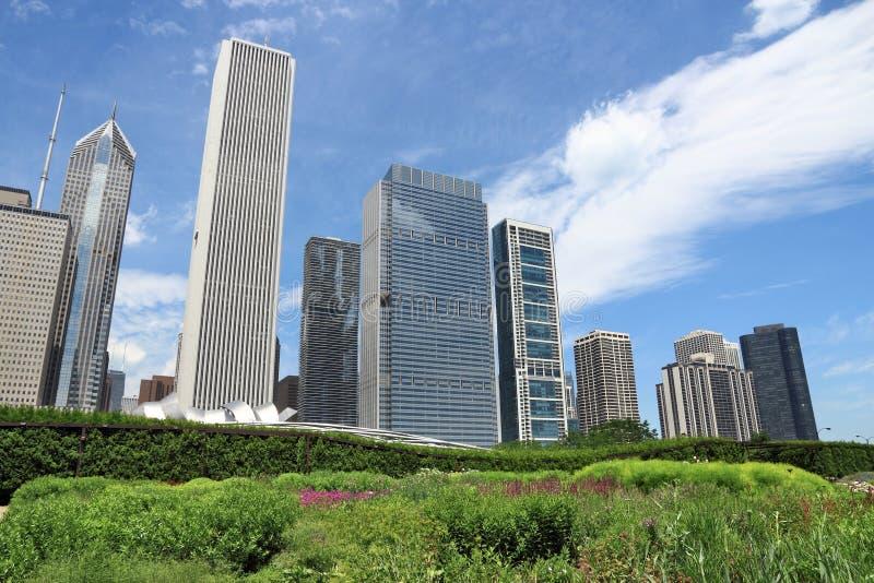 芝加哥卢里庭院 免版税库存照片