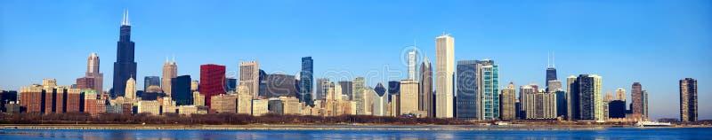 芝加哥地平线全景 库存照片