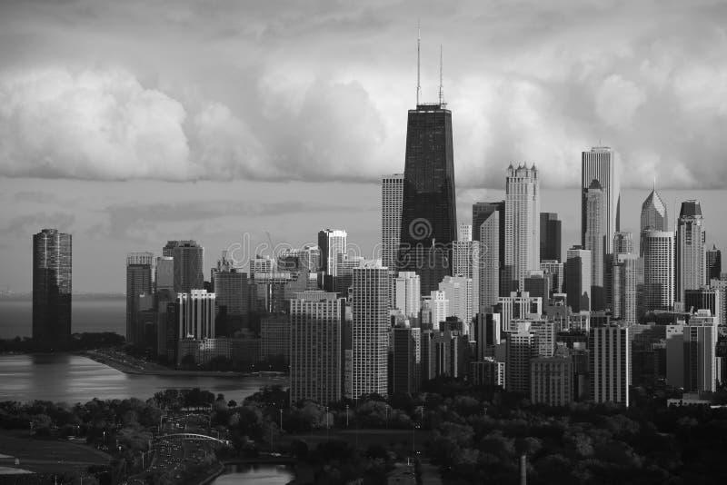 芝加哥地平线在夏天 库存图片