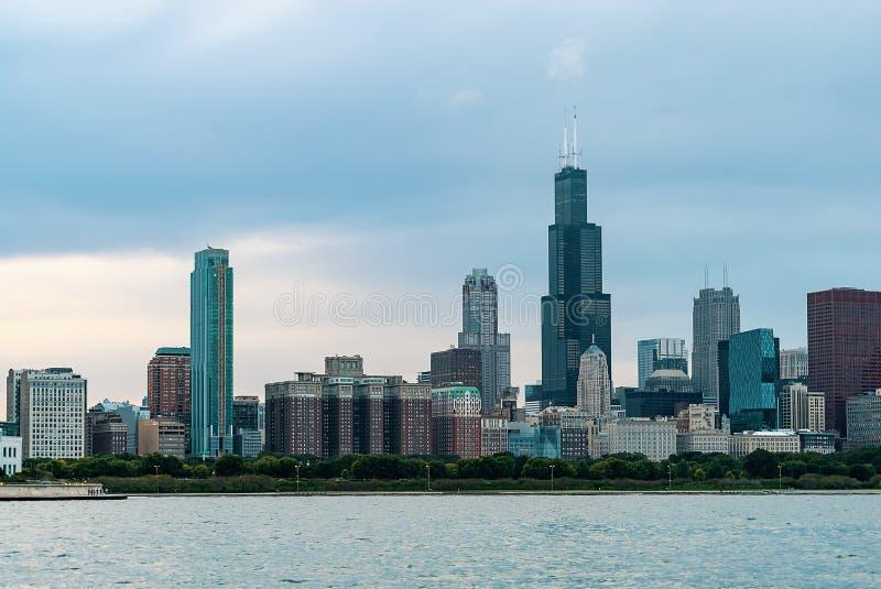 芝加哥地平线摩天大楼 免版税库存图片