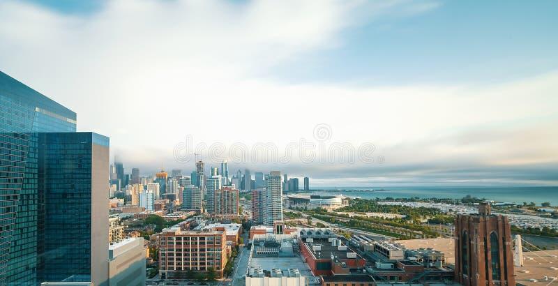 芝加哥地平线摩天大楼 图库摄影