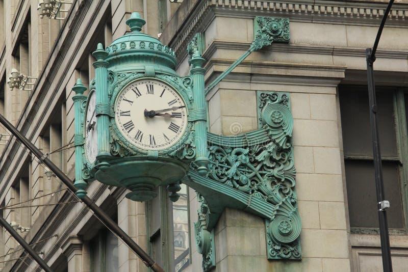 芝加哥地标时钟2 免版税库存照片