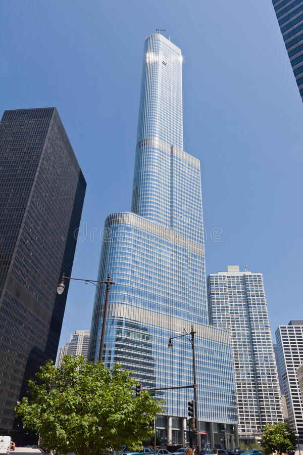 芝加哥塔王牌 库存图片