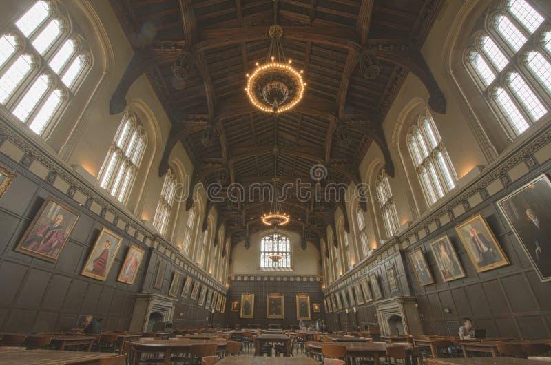芝加哥大学的伊利诺伊哈钦森角共同的大厅 免版税图库摄影