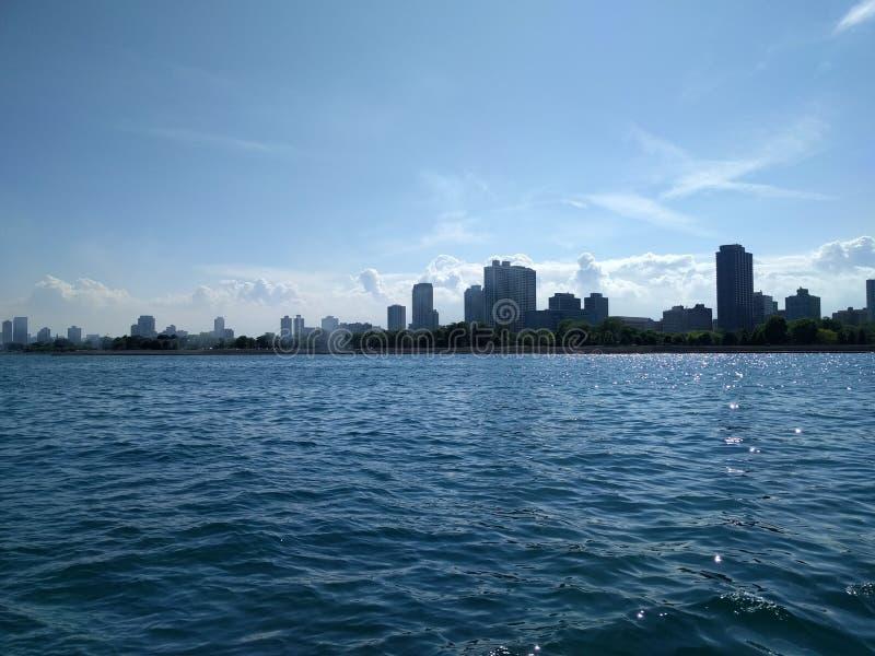 芝加哥密执安湖地平线 库存图片