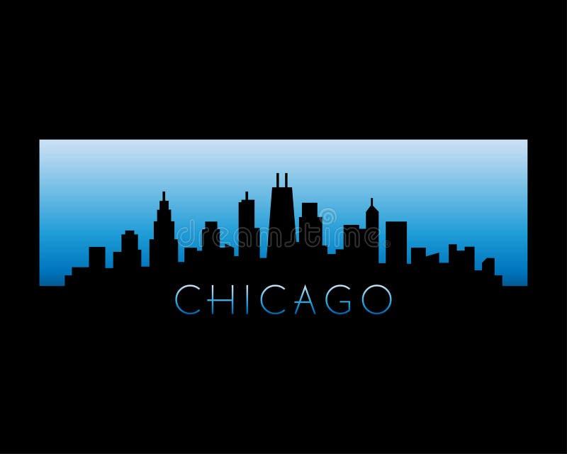 芝加哥市地平线传染媒介例证 图库摄影