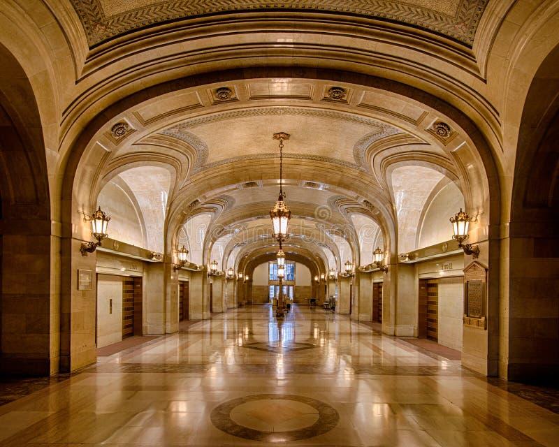 芝加哥市政厅 免版税图库摄影