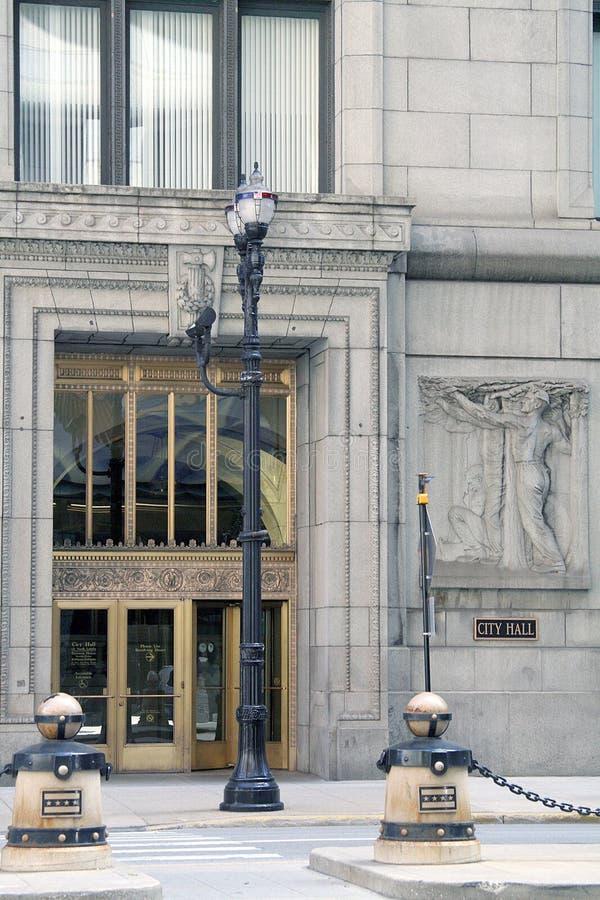 芝加哥市政厅 库存图片