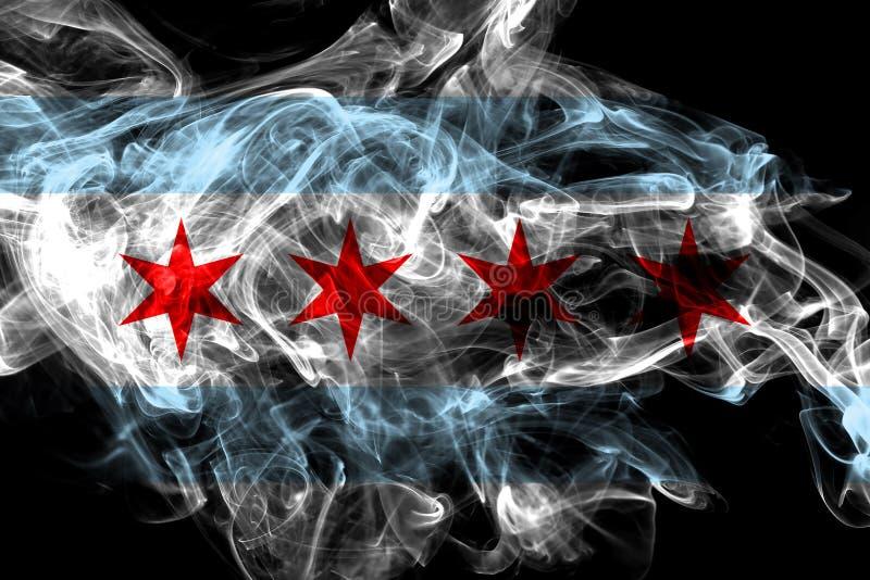 芝加哥市烟旗子,伊利诺伊状态,美国 库存图片