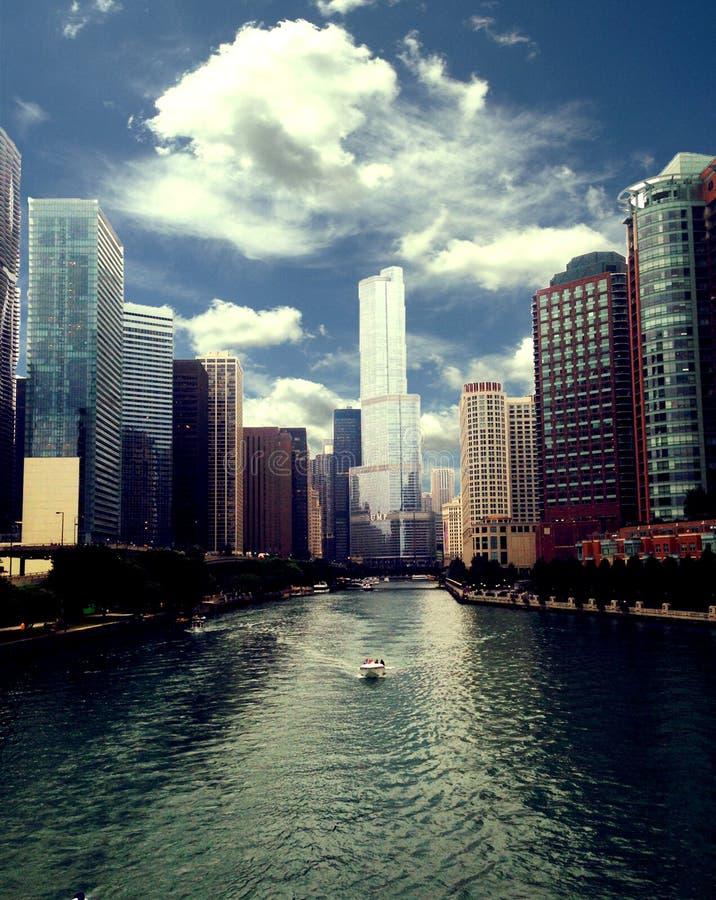 芝加哥市视图 免版税图库摄影