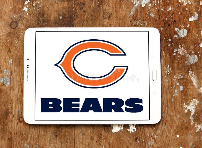 芝加哥带有橄榄球队商标 免版税库存照片
