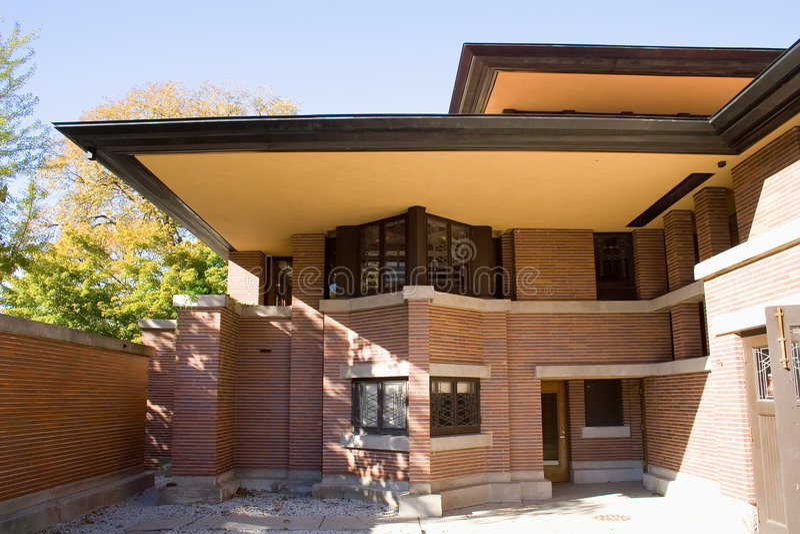 芝加哥房子橡木公园robie 免版税库存图片