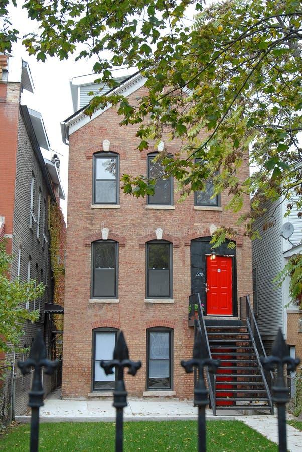 芝加哥房子 免版税库存照片