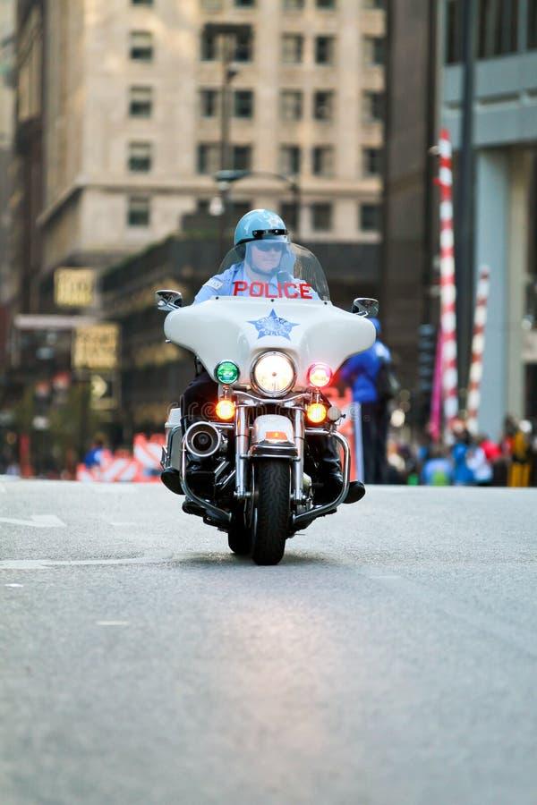 芝加哥摩托车警察 免版税库存照片
