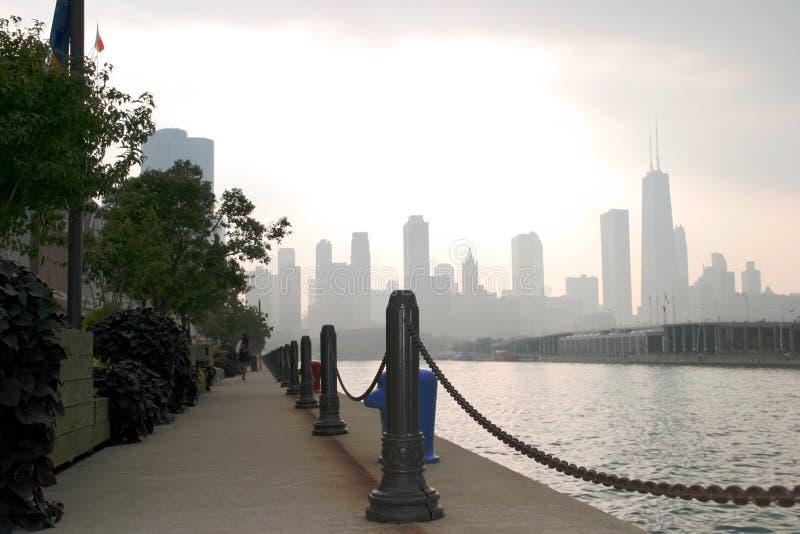 芝加哥海军码头视图 免版税库存照片