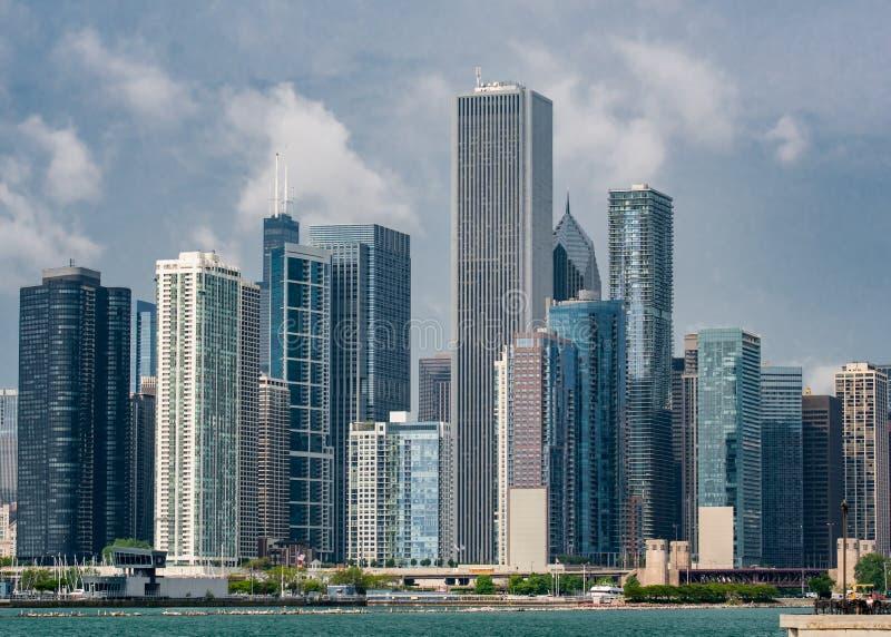 芝加哥海军码头地平线 免版税库存图片