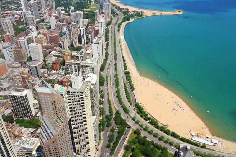 芝加哥海岸金子 库存照片