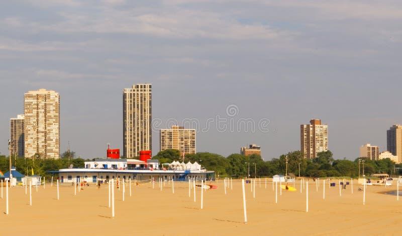 芝加哥海滩 免版税库存图片
