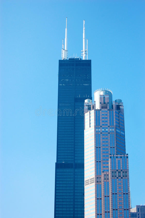 芝加哥的Willis或Sears Tower 库存图片