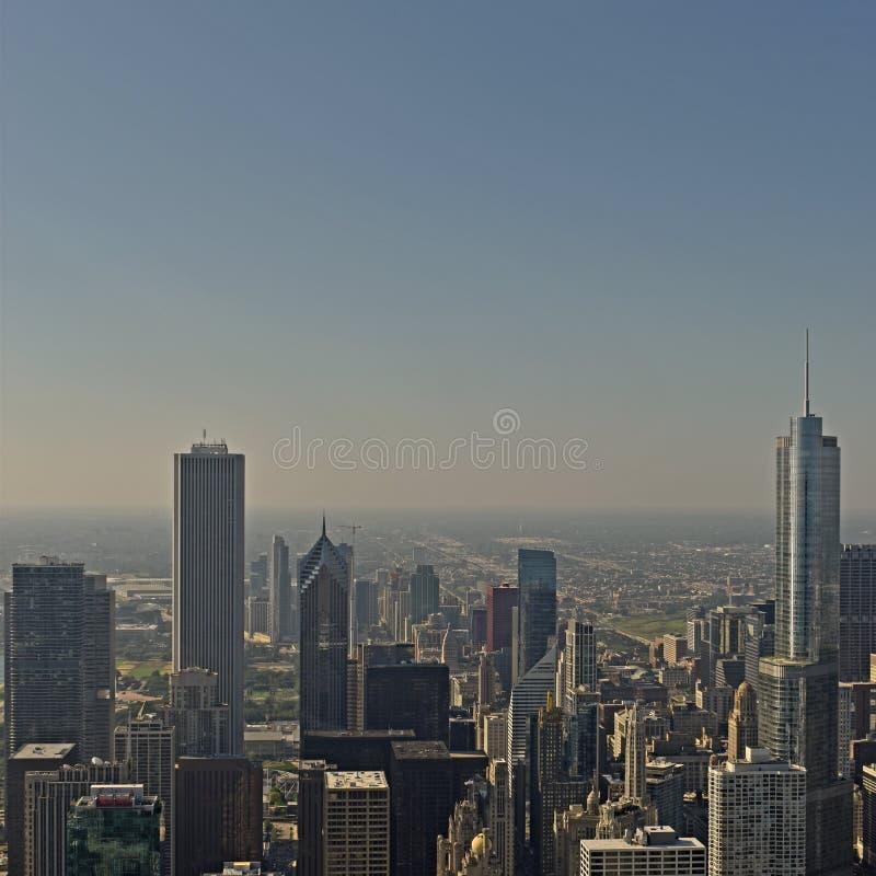 芝加哥看法从约翰汉考克中心的 图库摄影