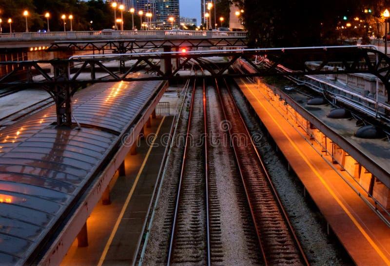 芝加哥联合驻地火车站 免版税图库摄影