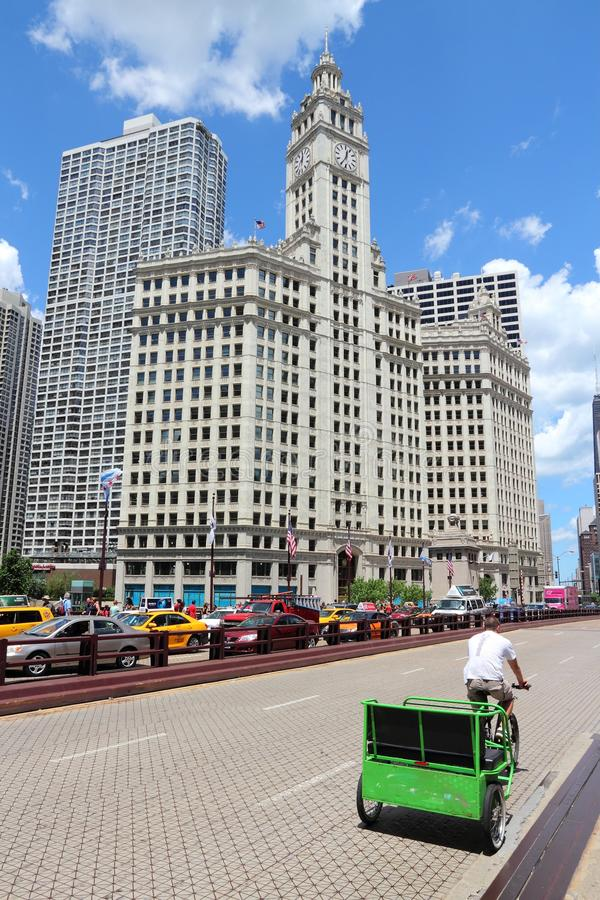 芝加哥自行车出租汽车 免版税图库摄影