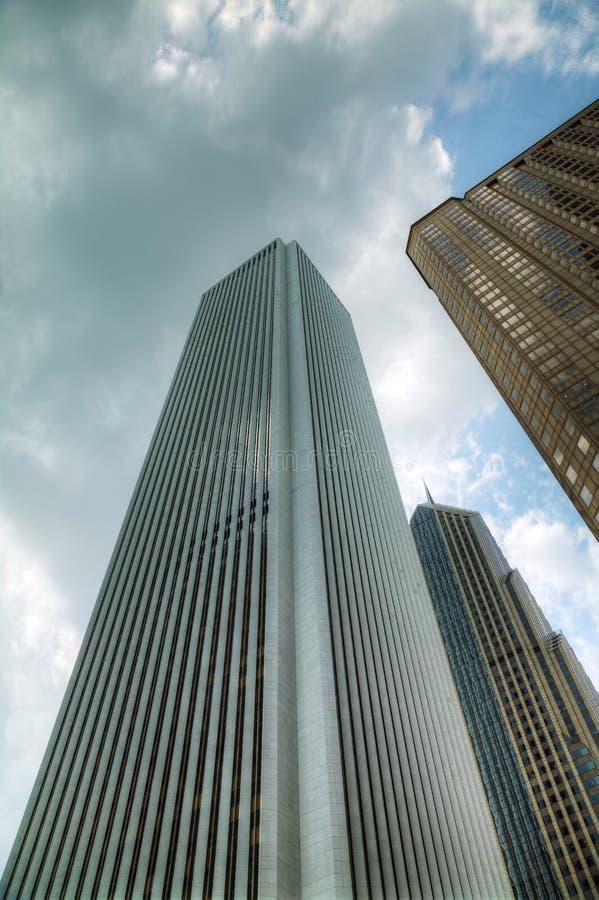 芝加哥街市伊利诺伊摩天大楼 免版税库存图片