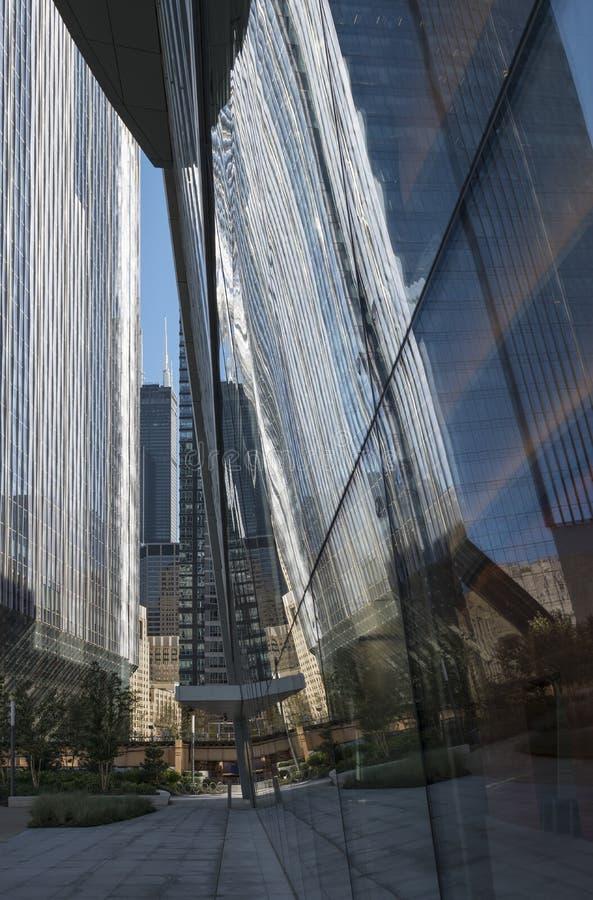 芝加哥街市建筑学 免版税库存图片
