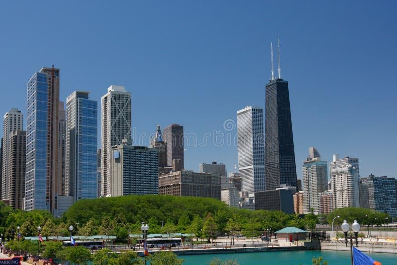 芝加哥街市街道夏天视图 库存图片