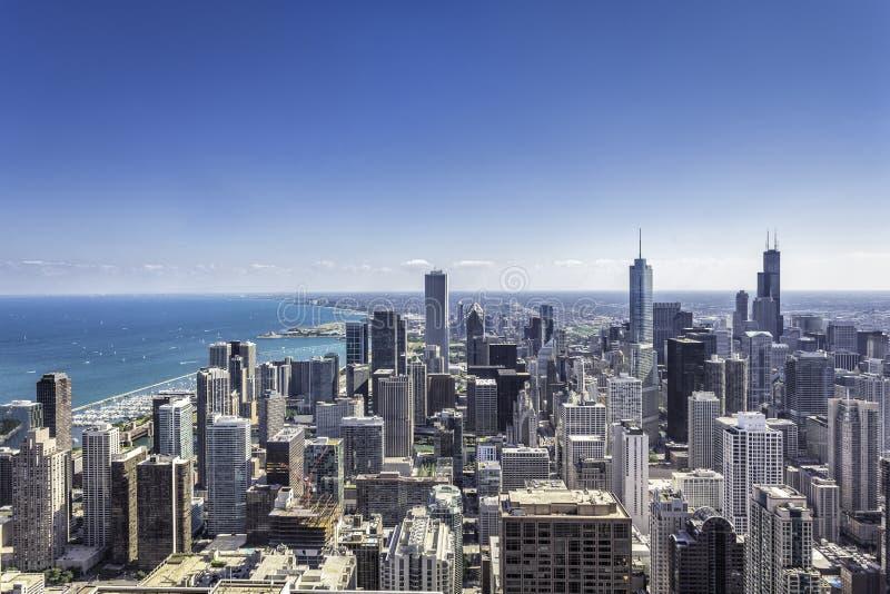 芝加哥街市  库存照片