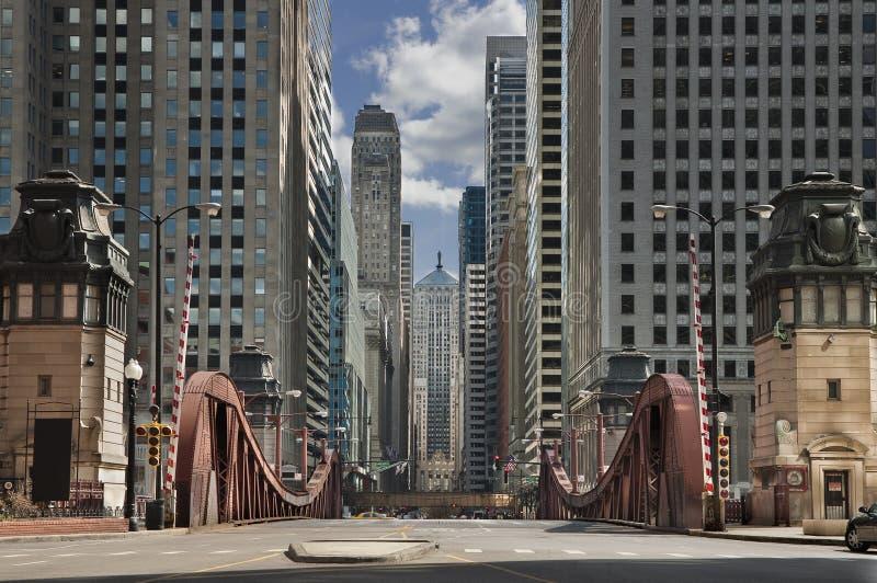 芝加哥街道 免版税库存图片