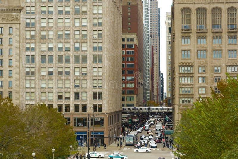 芝加哥街道 免版税库存照片