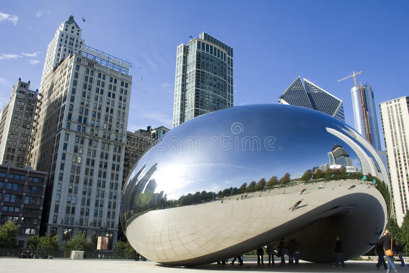 芝加哥银豆 图库摄影